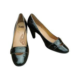 """Sofft """"Magnolia"""" Mary Jane Buttoned Toe Strap Heel"""